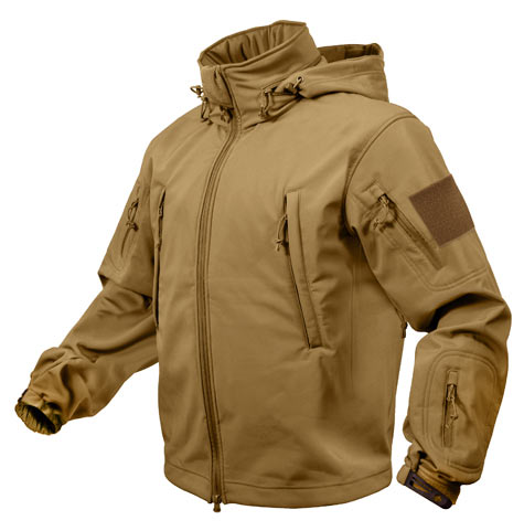 Coyote Brown Special Ops Soft Shell Waterproof Jacket   Military
