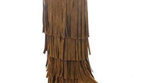Amazon.com | AXNY Adriana Mudd 55 Moccasin Layers Fringe Moccasin