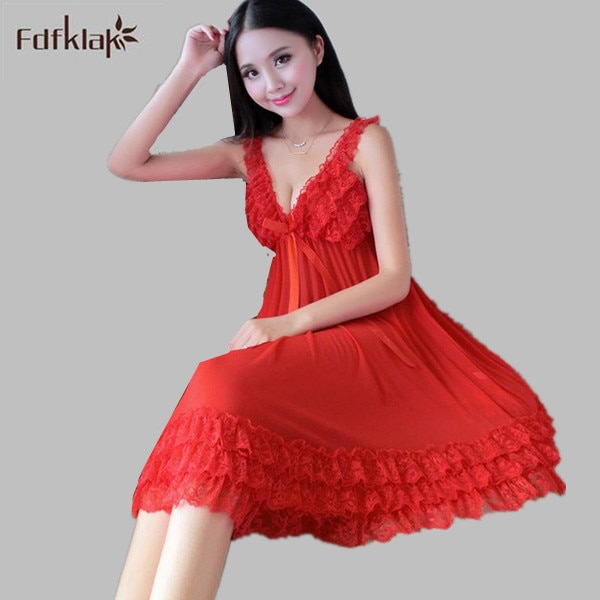 Summer Sexy Womens Ladies Silk Nightdress Sleepwear Gown Women Night