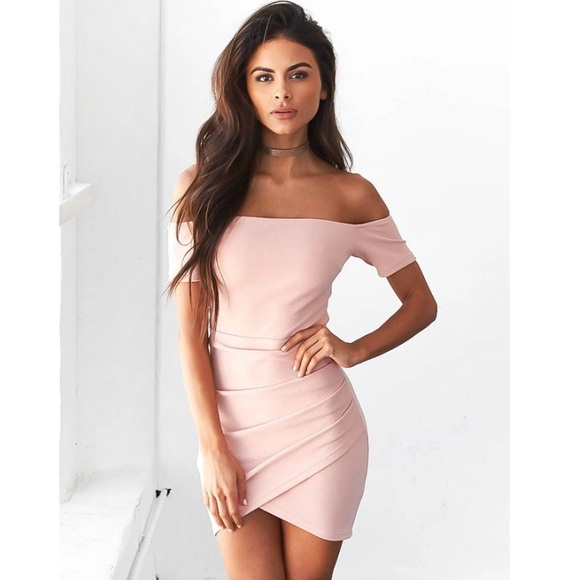 Dresses | New Lola Blush Pink Off The Shoulder Dress | Poshmark