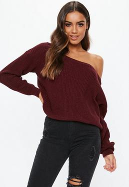 Style is not away from you:   off the shoulder jumper