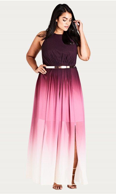 Shop Women's Plus Size Statement Ombre Maxi Dress | City Chic USA