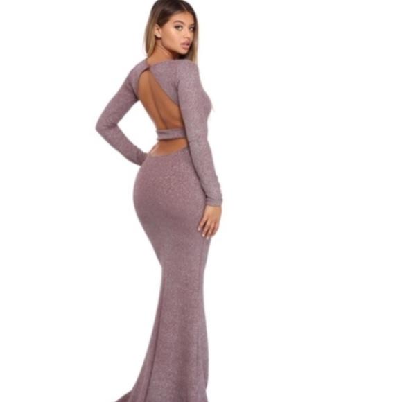 Windsor Dresses | Vivienne Lavender Glitter Open Back Dress | Poshmark