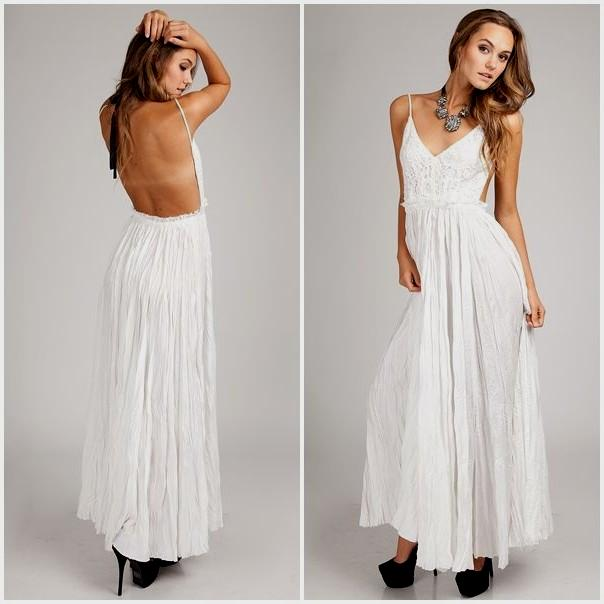 Flaunt your back with open   back maxi dresses