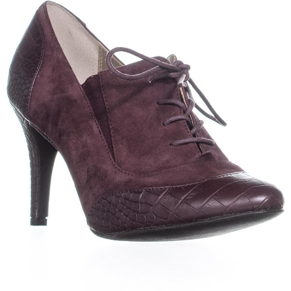 Shop A35 Zinea Lace Up Oxford Pumps, Cordovan - Free Shipping On