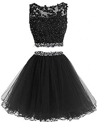 Dydsz Women's Prom Dress Short Homecoming Party Dresses 2 Piece