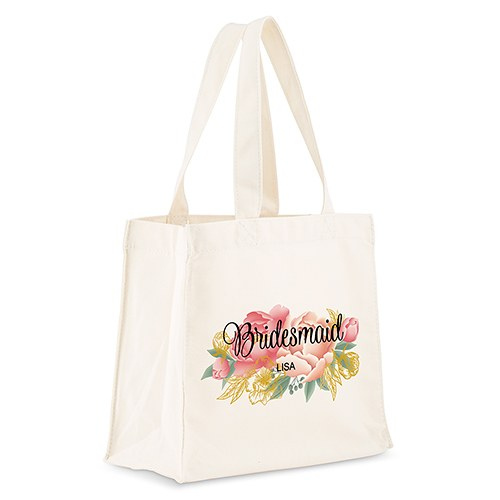 Personalized White Canvas Tote Bags - The Knot Shop