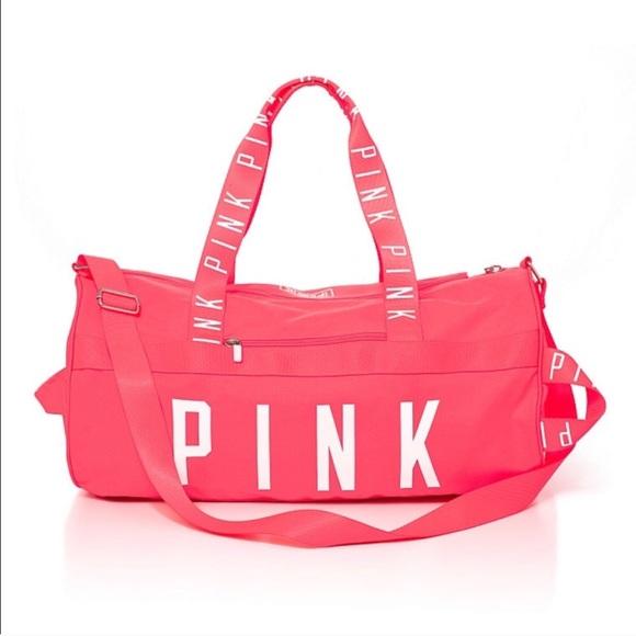 PINK Victoria's Secret Bags | Pink Weekender Duffle Bag | Poshmark