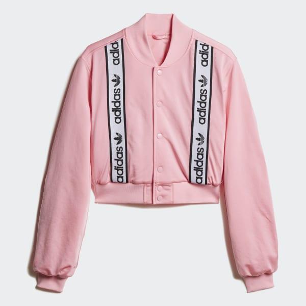 adidas Cropped Bomber Jacket - Pink | adidas US