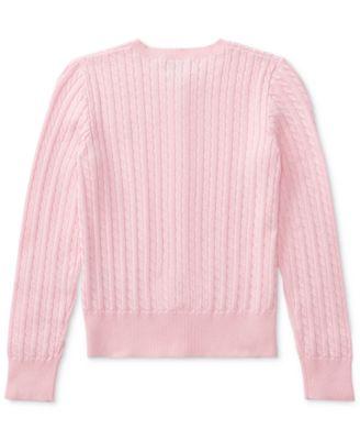 Polo Ralph Lauren Big Girls Cable Cardigan - Shirts & Tees - Kids