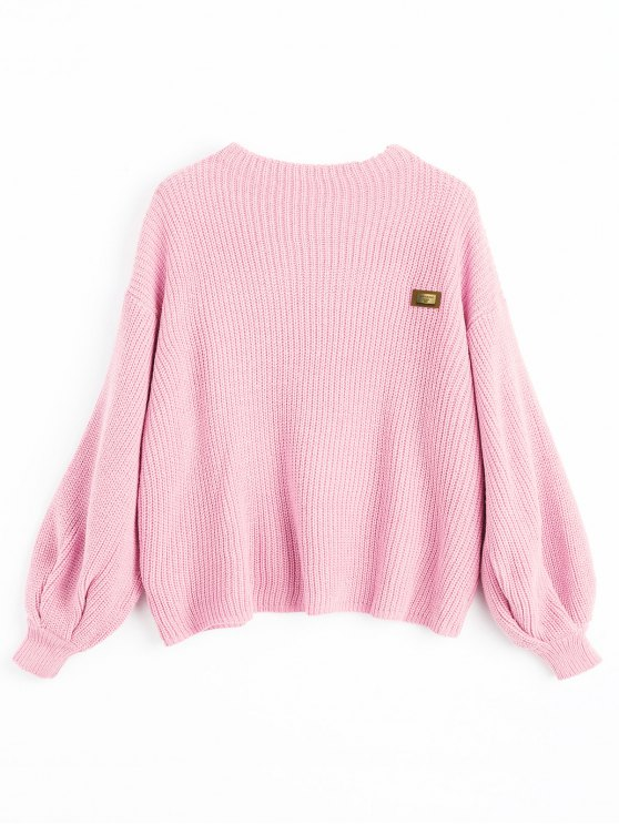 46% OFF] 2019 ZAFUL Oversized Chevron Patches Pullover Sweater In