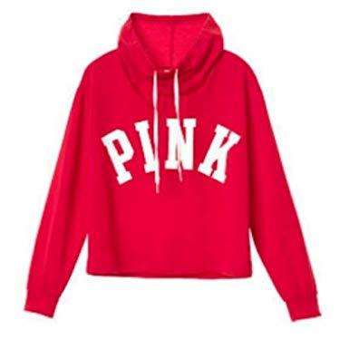 Victoria's Secret Pink Sweatshirt Cowl Neck, Red, Small at Amazon