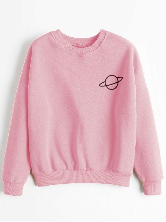 Go stylish with pink sweatshirts