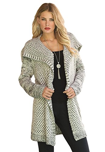Aesthetic Official   Roamans Women's Plus Size Chunky Tweed Cardigan