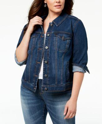 Style & Co Plus Size Denim Jacket, Created for Macy's - Jackets