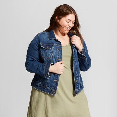 Women's Plus Size Freeborn Denim Jacket - Universal Thread™ Medium