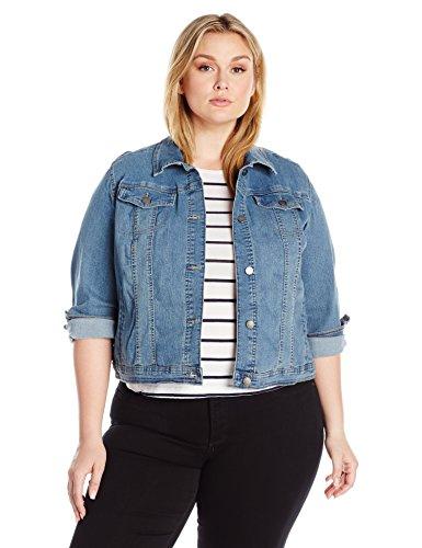 Riders by Lee Indigo Women's Plus Size Denim Jacket at Amazon