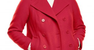 Wool-Blend Double-Breasted Peacoat | Plus Size Wool Coats | Woman Within