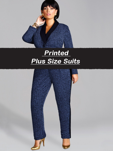 WORK-WEAR WEDNESDAY: PRINTED PLUS SIZE SUITS   Stylish Curves