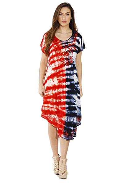 Riviera Sun 21524XX Plus Size Summer Dresses/Swimsuit Cover Up at