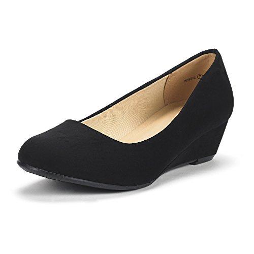 DREAM PAIRS Women's Debbie Mid Wedge Heel Pump Shoes - OtmTrend