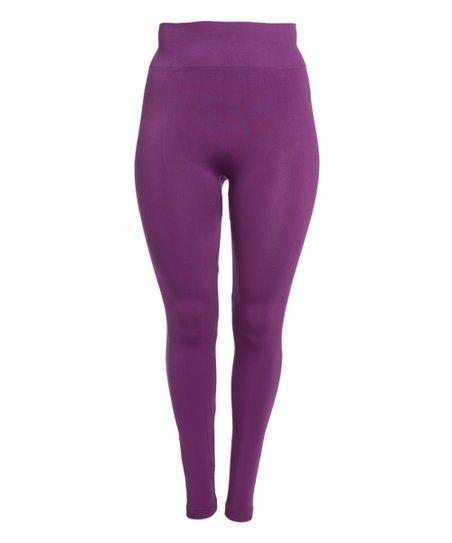 Crush Purple Leggings - Plus   Zulily