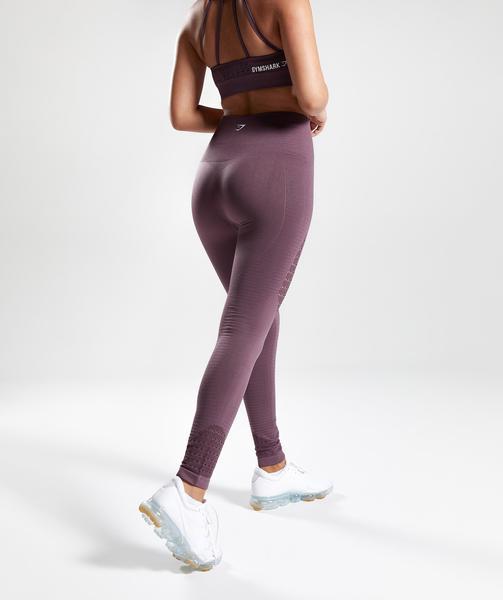 Gymshark Energy Seamless High Waisted Leggings - Purple Wash   Gymshark