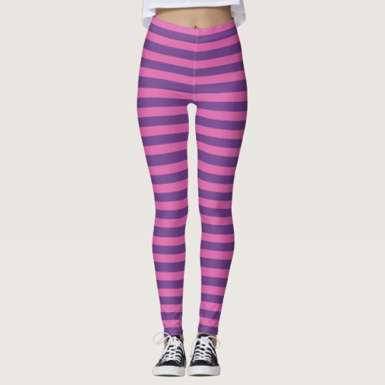 Pink Purple Lavender Striped Halloween Leggings   Zazzle.com
