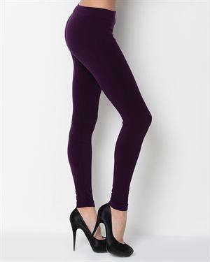 Papillon - Purple Stretch Women's Leggings in Leggings