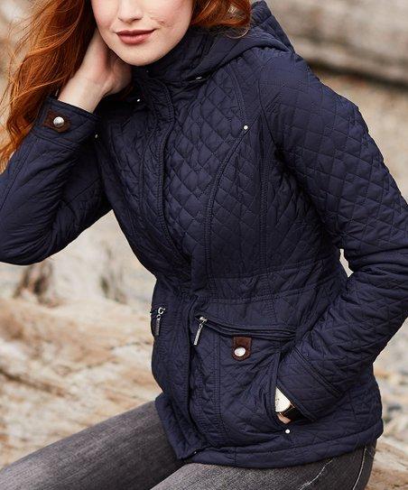 Weatherproof Dark Night Hooded Quilted Jacket - Women & Plus   Zulily