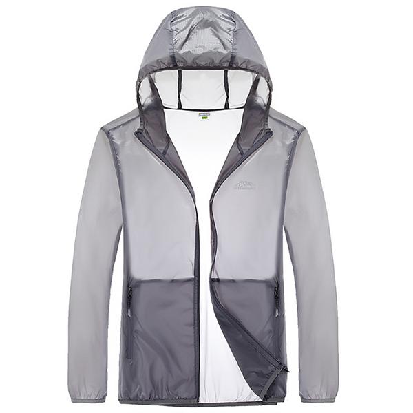 Men Super Thin Breathable Skin Coat Summer Outdoor Rain Jacket For