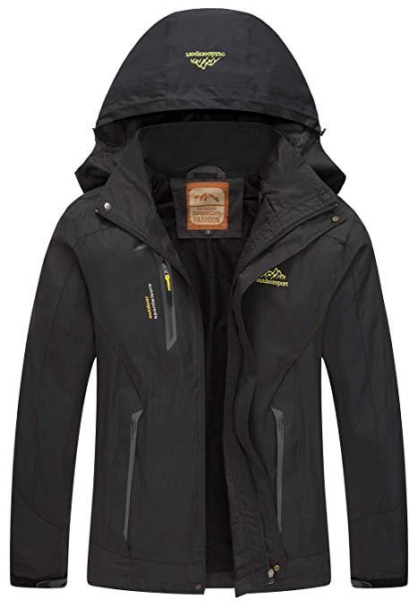 Amazon.com : Diamond Candy Men Hooded Waterproof Jacket Lightweight