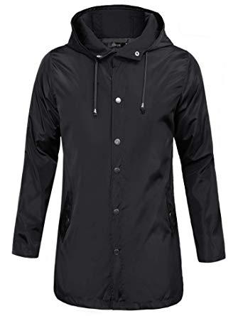 iClosam Men Raincoat Waterproof Rain Jacket Active Outdoor