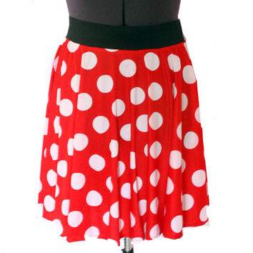 Minnie Skirt- Red and White Polka Dot from soursweetboutique on
