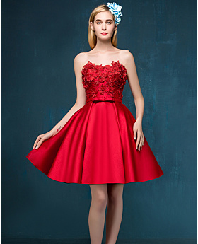 Cocktail Dress Red Cheap Party Dresses, Special Occasion Dress For