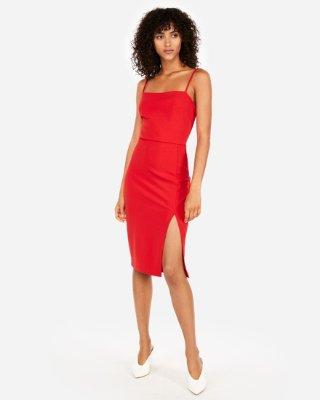 Front Slit Sheath Dress | Express