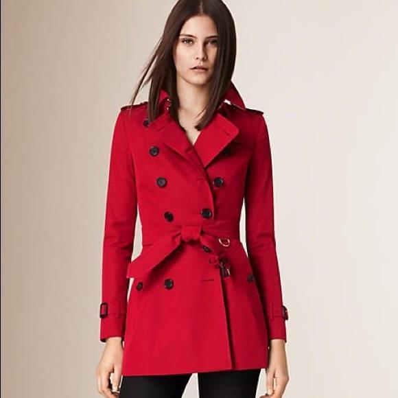 Burberry Jackets & Coats | Red Chelsea Trench Coat | Poshmark