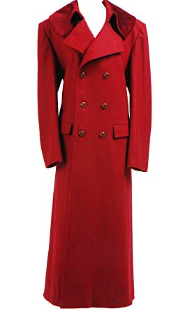Amazon.com: CosDaddy® Cosplay Costume Red Long Trench Coat: Clothing