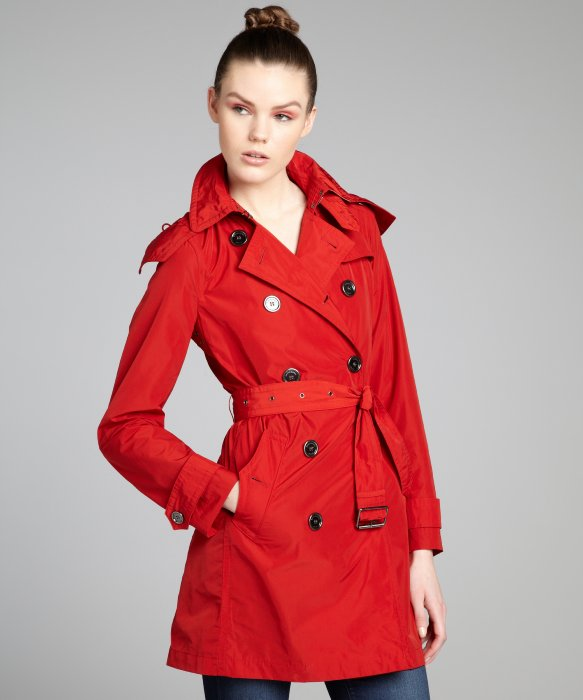 RED TRENCH COAT on The Hunt