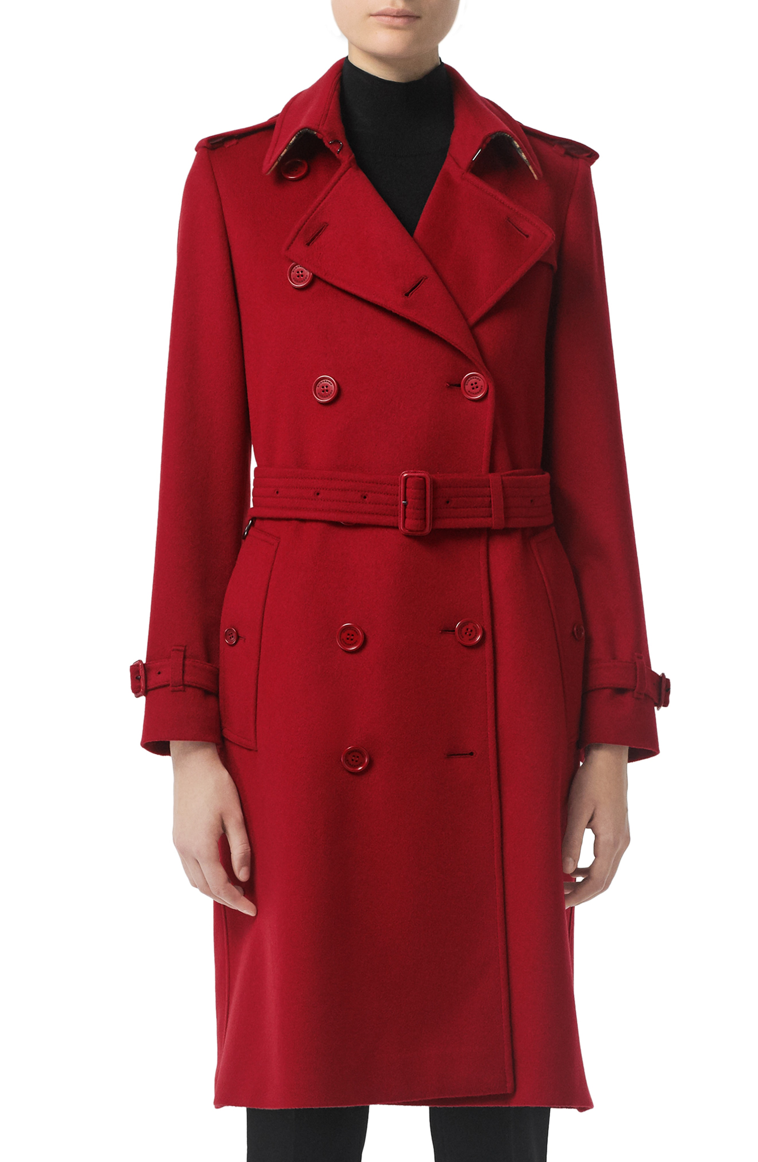 Enrich your wardrobe with the red trench coat