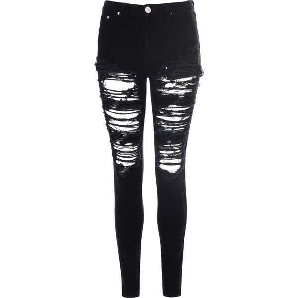 Black Heavily Ripped Jeans found on Polyvore   Skullcandy Headphones