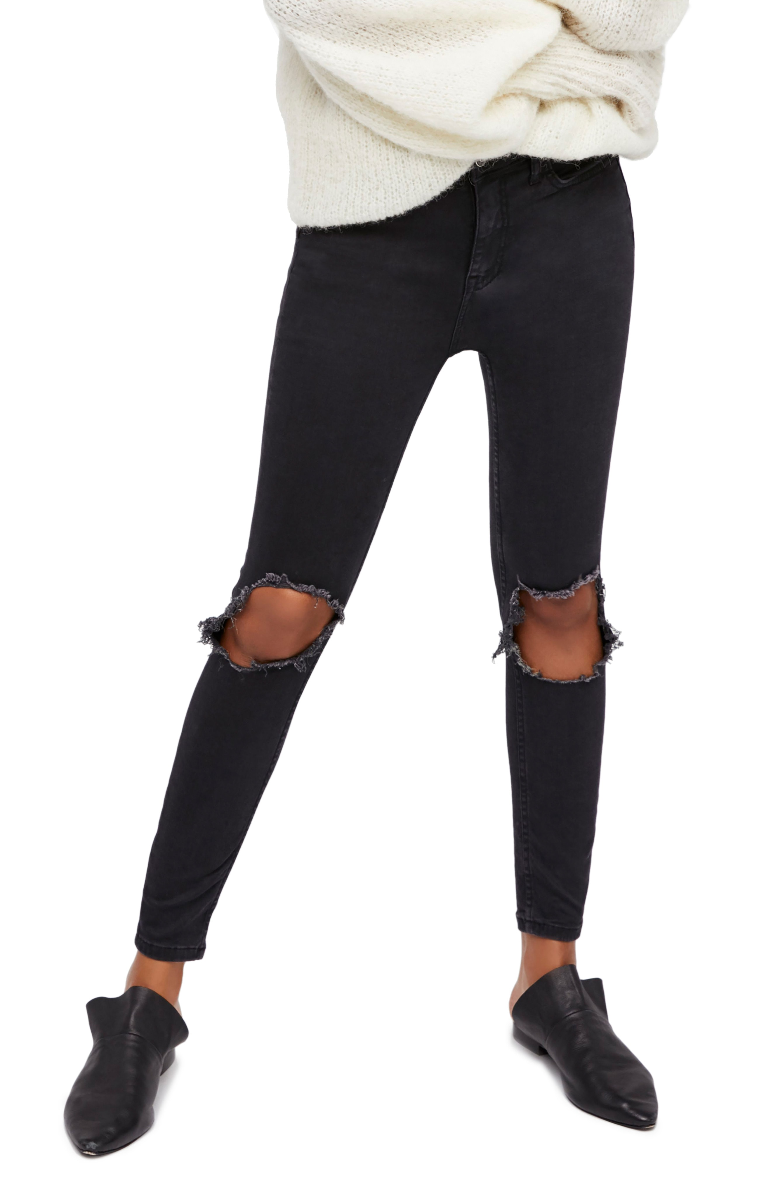 Ripped black jeans   Nordstrom