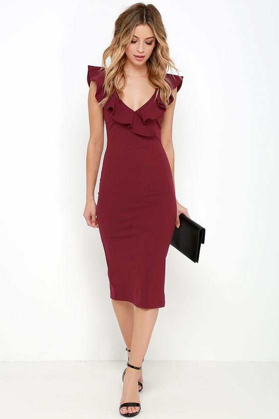 Embracing femininity with   ruffle dresses