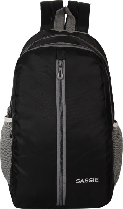 Flipkart.com   Sassie Black School Bag II Genuine Backpack II