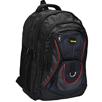 New-Era Polyester 50 Ltr Black School Bag: school bags for boys