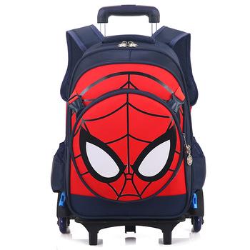 Trolley Spiderman Schoolbag Trolley School Bags For Kids - Buy