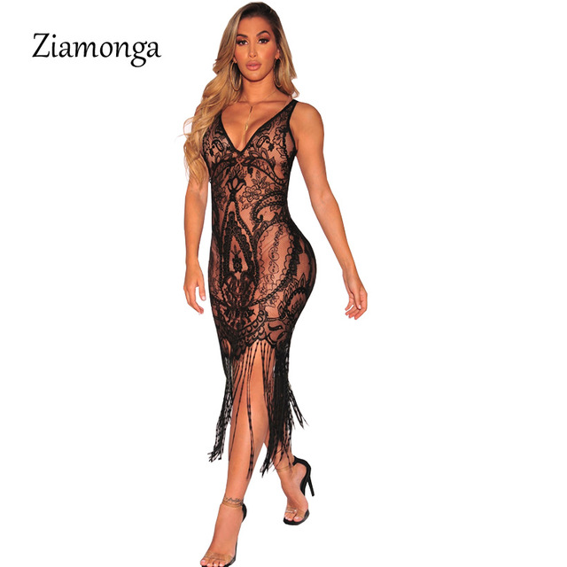 Sexy Club Dress 2018 Fashion Summer Style Women Hollow Out Backless