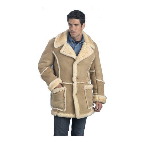 LeatherCoatsEtc Mens Classic Shearling Jacket