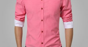 2018 Summer Mens Dress Shirts Cotton Solid Casual Shirt Men Slim Fit