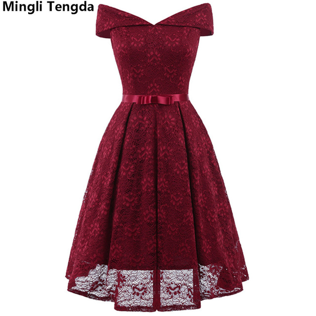 Mingli Tengda 2018 Pink/Red Bridesmaid Dresses Strapless Dress Short